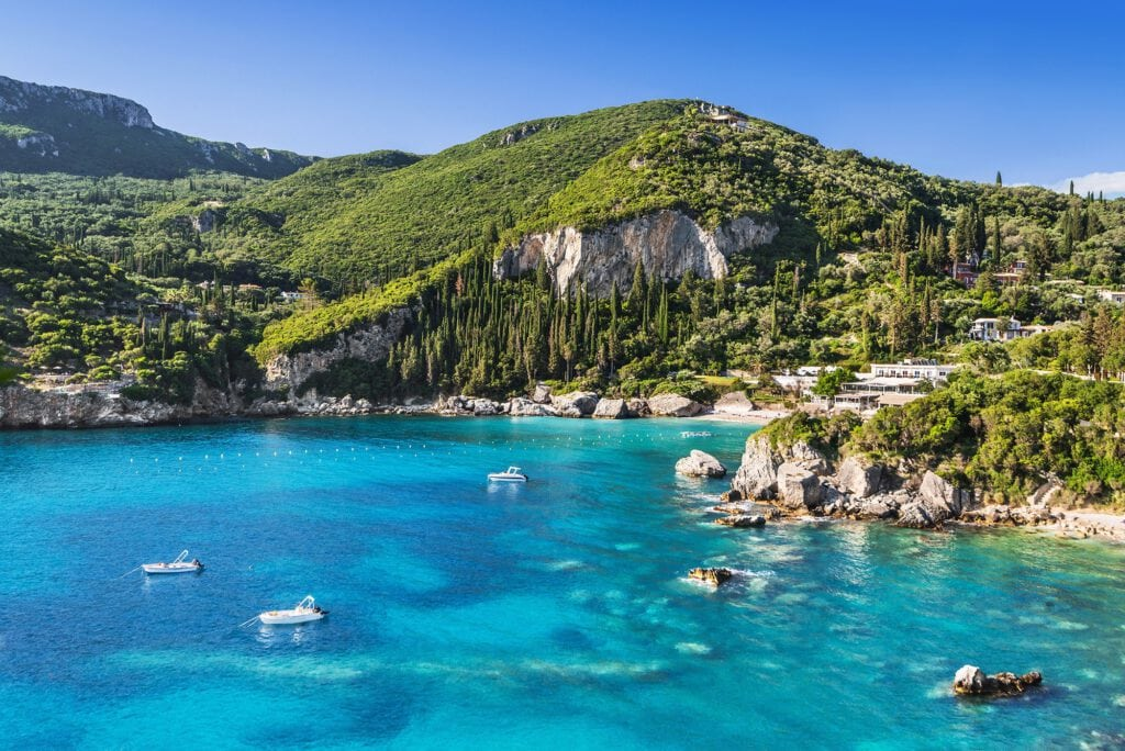 Paleokastritsa Beach, Corfu Greece