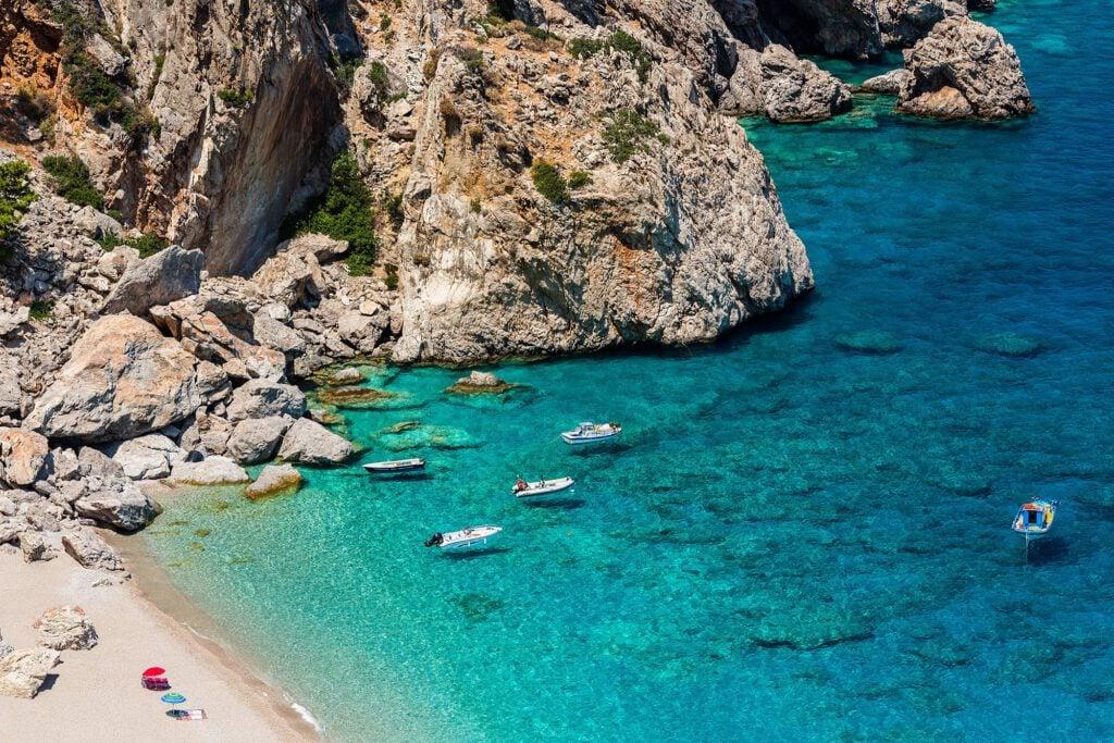 Beautiful Kyra Panagia Beach, Greece