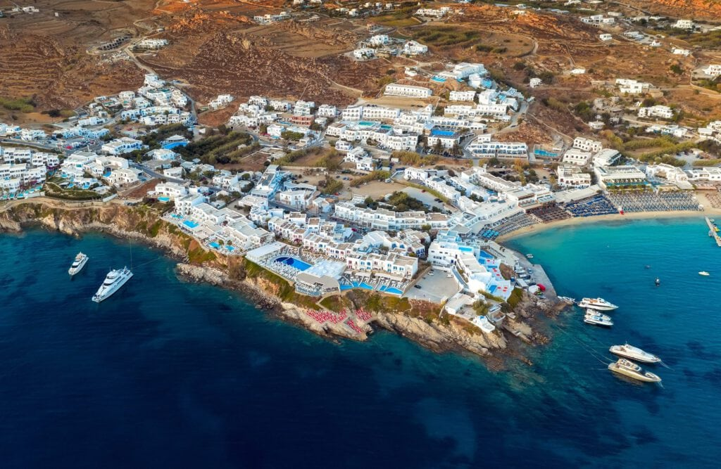 Mykonos Aerial view