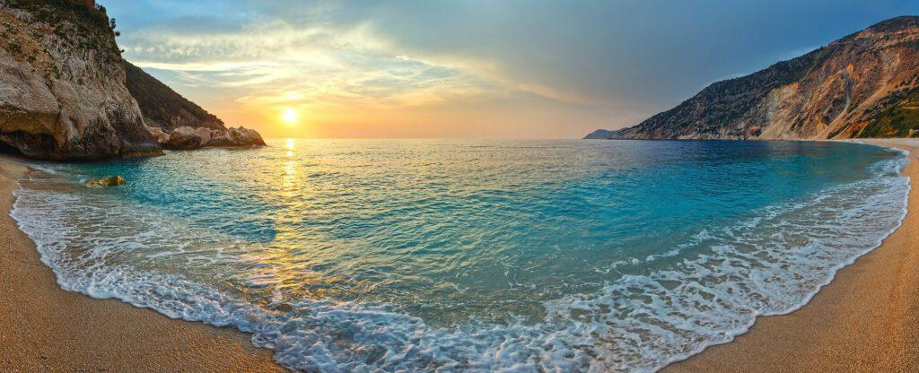 Myrtos Beach - Sunset