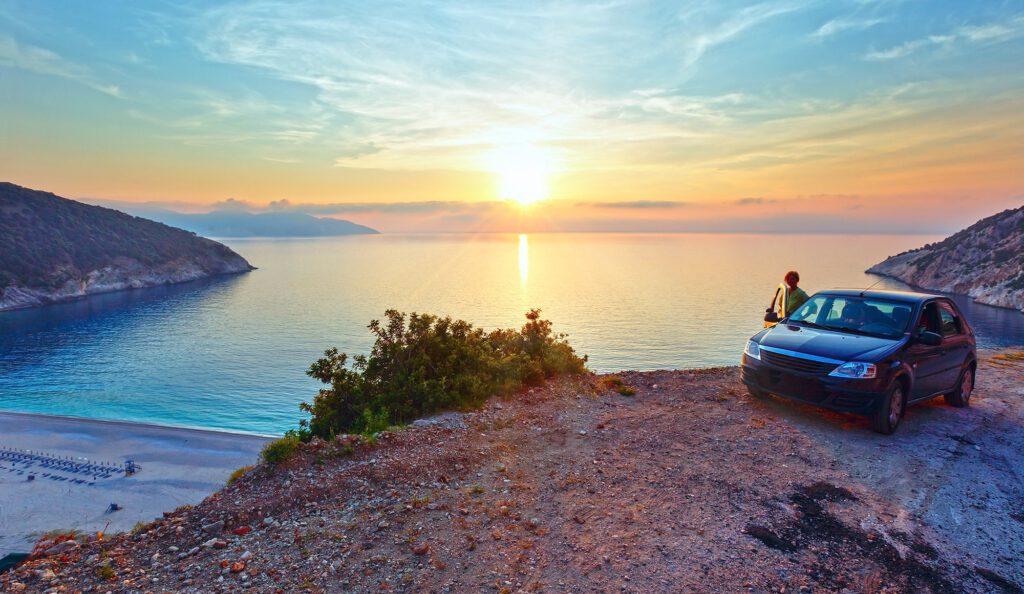 Sunset - Kefalonia, Myrtos Beach